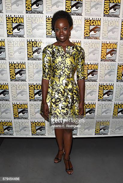 "Actress Danai Gurira from Marvel Studios' 'Black Panther"" attends the San Diego ComicCon International 2016 Marvel Panel in Hall H on July 23 2016 in..."