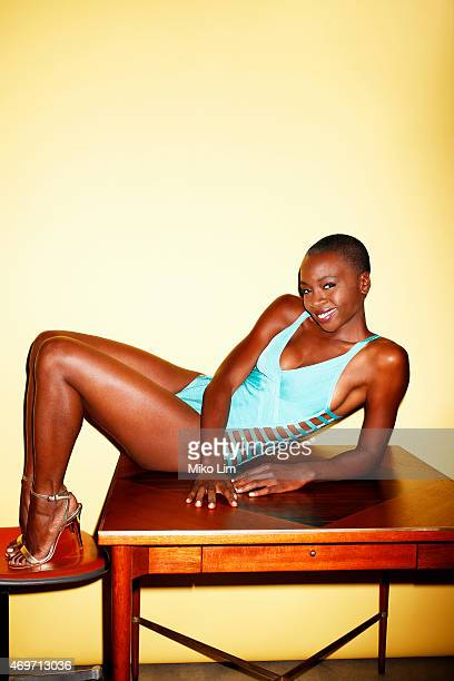 Actress Danai Gurira is photographed for Esquire Magazine in November 2014 in New York City