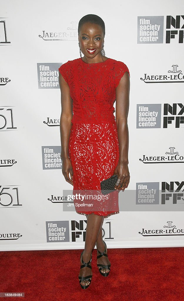 Actress Danai Jekesai Gurira attends the Gala Tribute To <a gi-track='captionPersonalityLinkClicked' href=/galleries/search?phrase=Ralph+Fiennes&family=editorial&specificpeople=206461 ng-click='$event.stopPropagation()'>Ralph Fiennes</a> during the 51st New York Film Festival at Alice Tully Hall at Lincoln Center on October 9, 2013 in New York City.