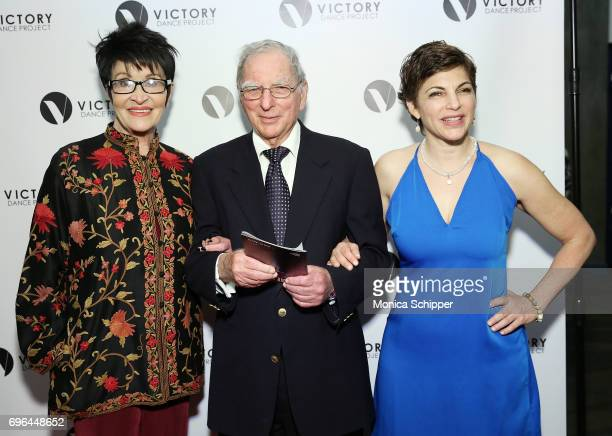 Actress dancer and singer Chita Rivera Robert Baum and dancer choreographer and founder of Victory Dance Project Amy Jordan attend the 2017 Victory...