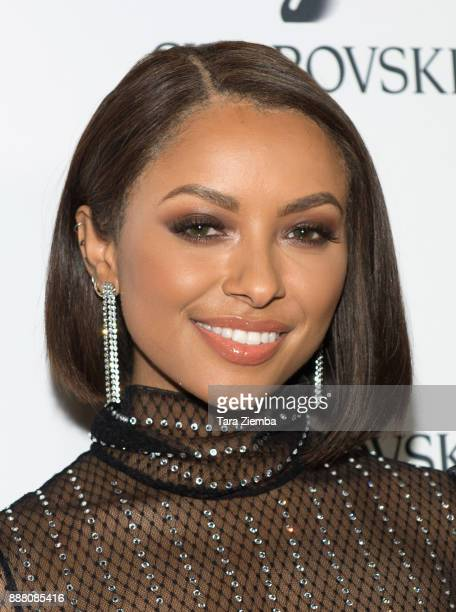 Actress dancer and singer Kat Graham attends Swarovski's Holiday Celebration at The Grove at Swarovski on December 7 2017 in Los Angeles California