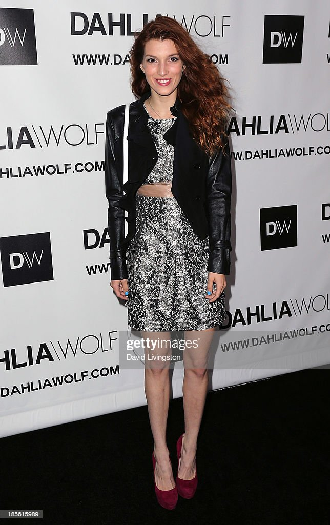 Actress <a gi-track='captionPersonalityLinkClicked' href=/galleries/search?phrase=Dani+Thorne&family=editorial&specificpeople=5553373 ng-click='$event.stopPropagation()'>Dani Thorne</a> attends the Dahlia Wolf Launch Party at the Graffiti Cafe on October 22, 2013 in Los Angeles, California.