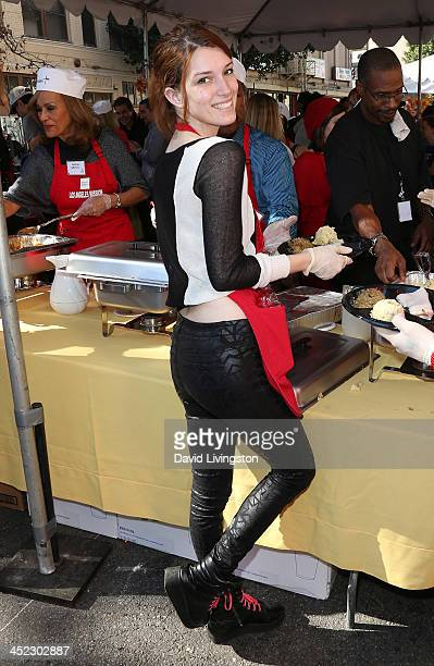 Actress Dani Thorne attends the LA Mission's Annual Thanksgiving for the Homeless at the Los Angeles Mission on November 27 2013 in Los Angeles...