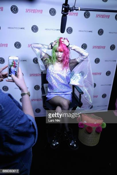 Actress Dani Thorne poses for a photo during Beautycon Festival NYC 2017 at Brooklyn Cruise Terminal on May 20 2017 in New York City