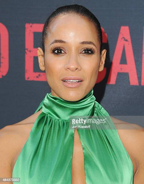 Actress Dania Ramirez arrives at the Los Angeles Premiere 'No Escape' at Regal Cinemas LA Live on August 17 2015 in Los Angeles California