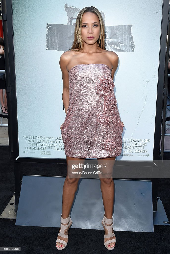 Actress Dania Ramirez arrives at the premiere of New Line Cinema's 'Lights Out' at TCL Chinese Theatre on July 19 2016 in Hollywood California