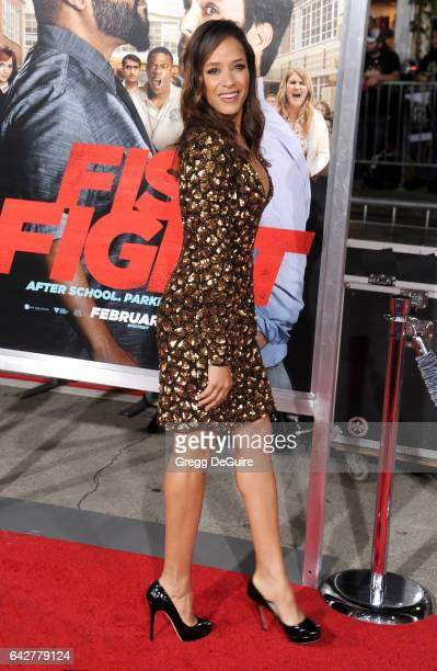 Actress Dania Ramirez arrives at the premiere of Warner Bros Pictures' 'Fist Fight' at Regency Village Theatre on February 13 2017 in Westwood...