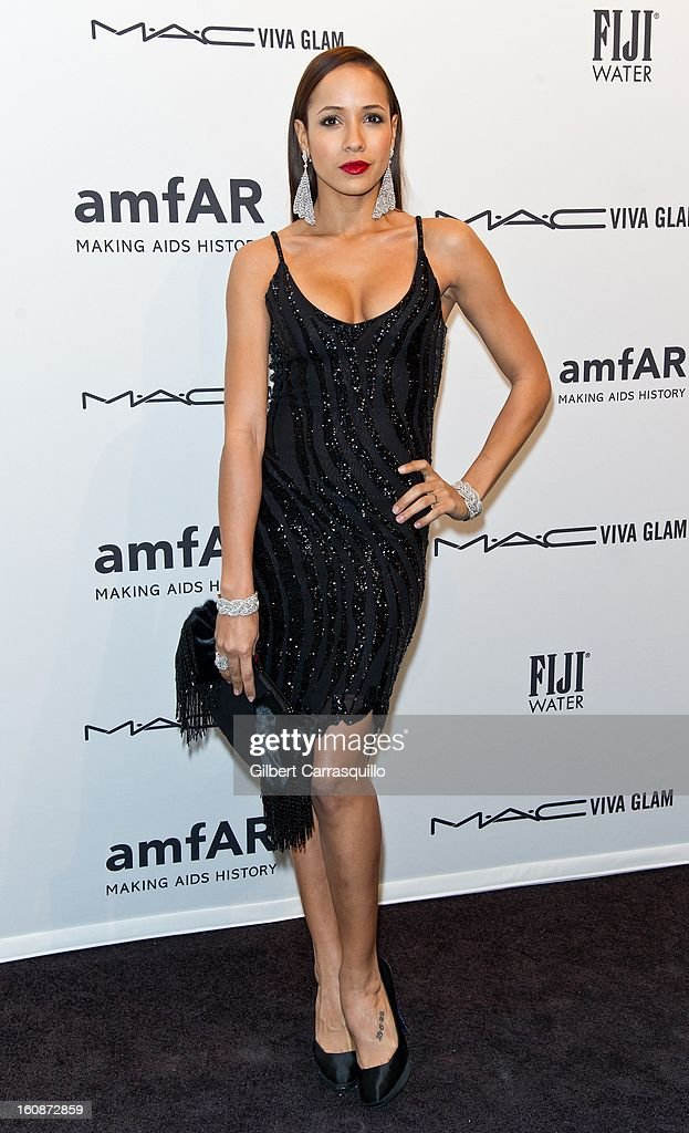 Actress Dania Ramirez attends amfAR New York Gala To Kick Off Fall 2013 Fashion Week at Cipriani, Wall Street on February 6, 2013 in New York City.