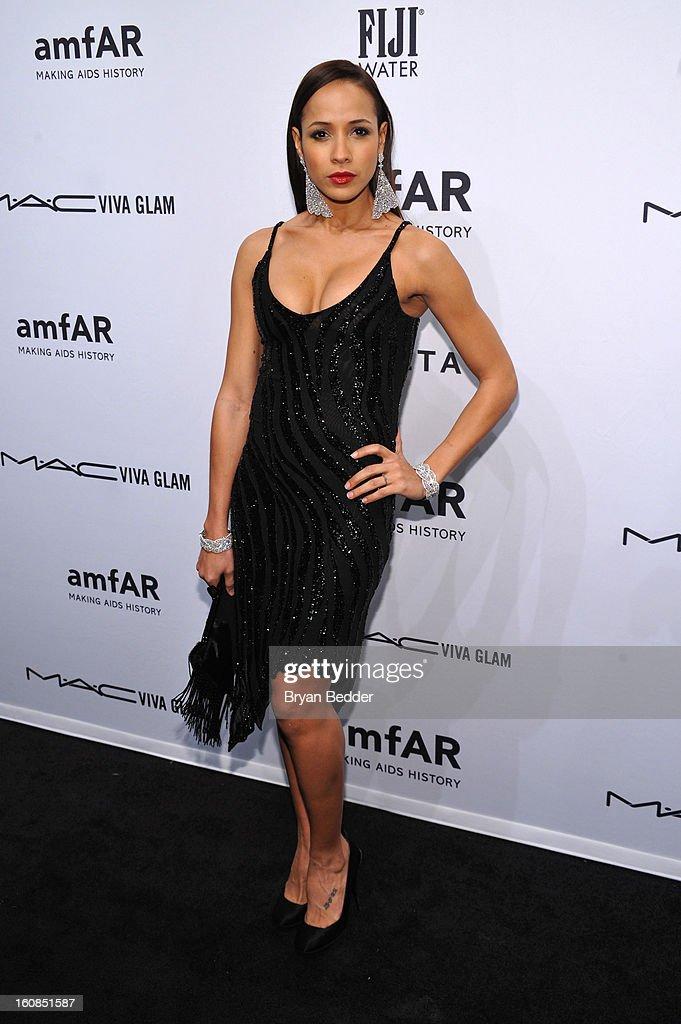 Actress Dania Ramirez attends the amfAR New York Gala to kick off Fall 2013 Fashion Week at Cipriani Wall Street on February 6, 2013 in New York City.