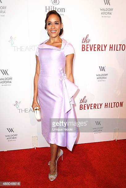 Actress Dania Ramirez attends The Beverly Hilton celebrates 60 years with a diamond anniversary party at The Beverly Hilton Hotel on August 21 2015...
