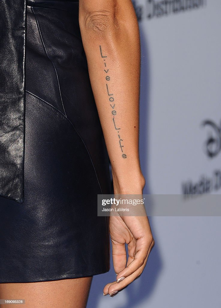 Actress Dania Ramirez (tattoo detail) attends the Disney Media Networks International Upfronts at Walt Disney Studios on May 19, 2013 in Burbank, California.