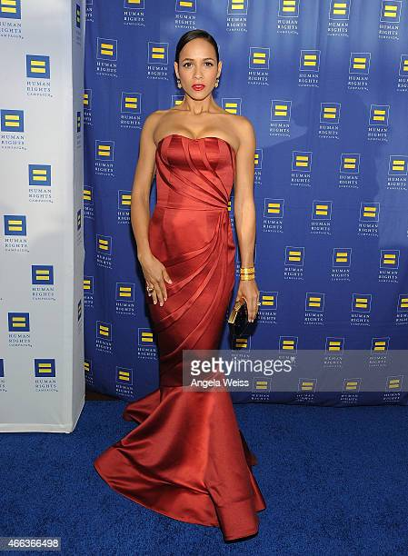 Actress Dania Ramirez attends the Human Rights Campaign Los Angeles Gala 2015 at JW Marriott Los Angeles at LA LIVE on March 14 2015 in Los Angeles...