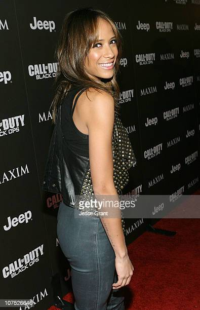 Actress Dania Ramirez attends the Jeep MAXIM and Call of Duty Black Ops Celebration of The 2010 Maximum Warrior at SupperClub Los Angeles on December...