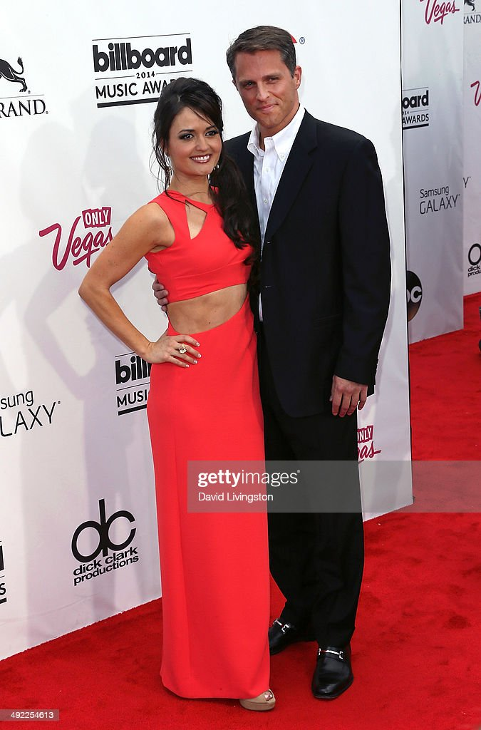 Actress <a gi-track='captionPersonalityLinkClicked' href=/galleries/search?phrase=Danica+McKellar&family=editorial&specificpeople=220769 ng-click='$event.stopPropagation()'>Danica McKellar</a> (L) and guest attend the 2014 Billboard Music Awards at the MGM Grand Garden Arena on May 18, 2014 in Las Vegas, Nevada.