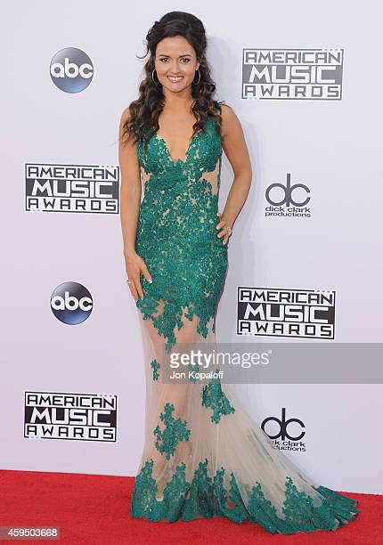 Actress Danica McKellar arrives at the 2014 American Music Awards at Nokia Theatre LA Live on November 23 2014 in Los Angeles California