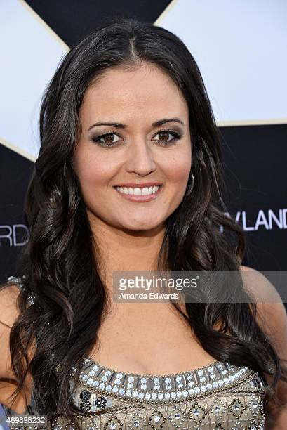Actress Danica McKellar arrives at the 2015 TV LAND Awards at the Saban Theatre on April 11 2015 in Beverly Hills California
