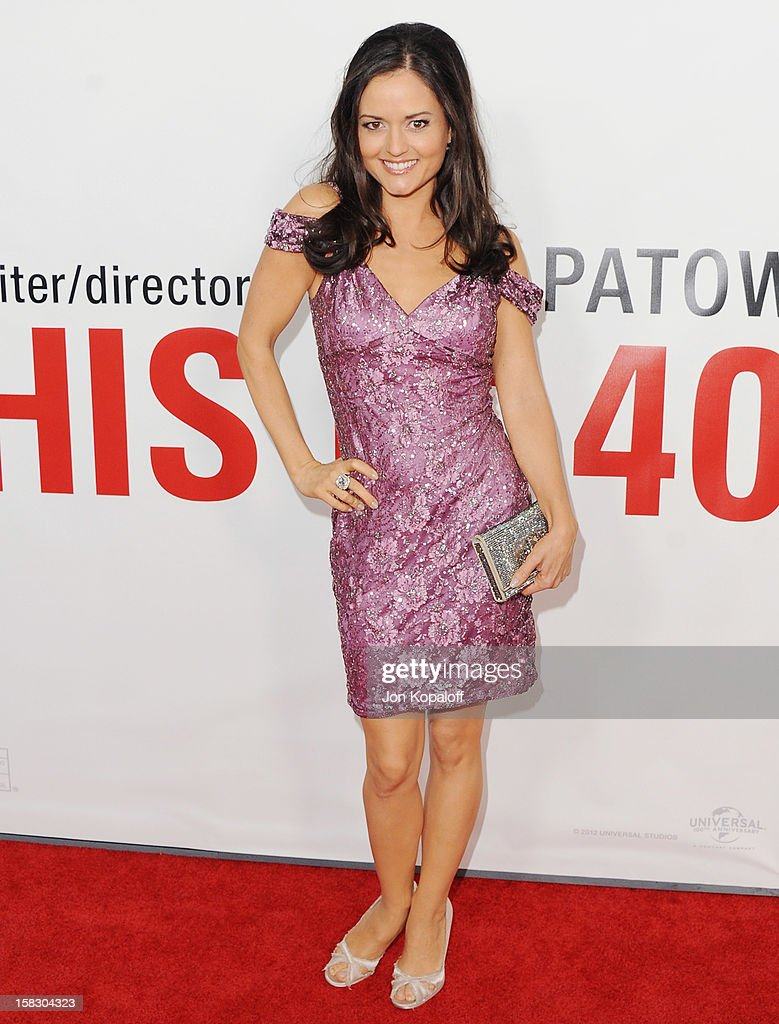 Actress Danica McKellar arrives at the Los Angeles Premiere 'This Is 40' at Grauman's Chinese Theatre on December 12, 2012 in Hollywood, California.