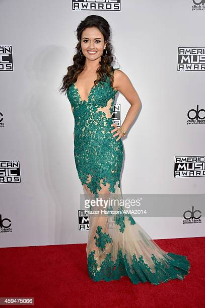 Actress Danica McKellar attends the 2014 American Music Awards at Nokia Theatre LA Live on November 23 2014 in Los Angeles California