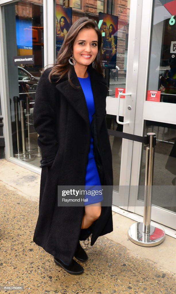 Actress Danica McKellar is seen walking in Soho on March 7, 2017 in New York City.