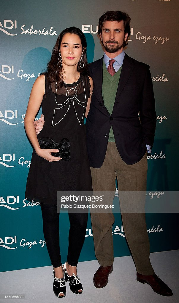 Actress Daniel de Angel (L) attends Basque Country Tourism Campaign Presentation at Cibeles Palace on January 17, 2012 in Madrid, Spain.