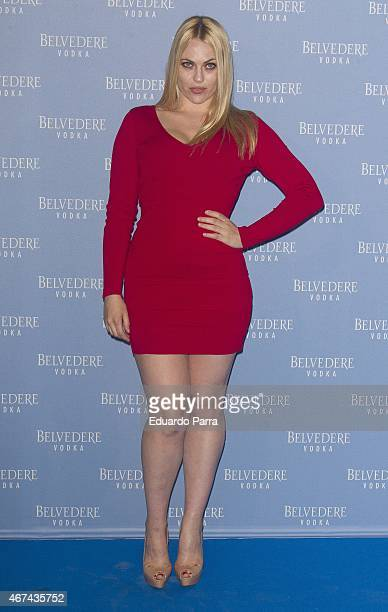 Actress Daniela Blume attends the Belvedere Vodka Night at Principe Pio train station on March 24 2015 in Madrid Spain