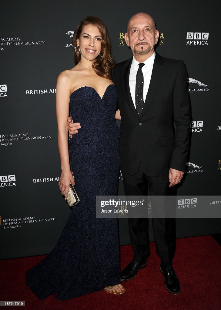 Actress Daniela Lavender and Sir Ben Kingsley attend the BAFTA Los Angeles Britannia Awards at The Beverly Hilton Hotel on November 9, 2013 in Beverly Hills, California.