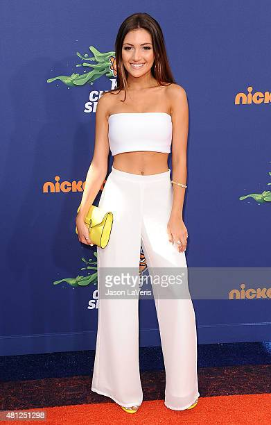 Actress Daniela Nieves attends the Nickelodeon Kids' Choice Sports Awards at UCLA's Pauley Pavilion on July 16 2015 in Westwood California