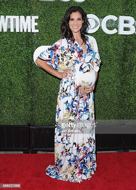 Actress Daniela Ruah arrives at CBS CW Showtime Summer TCA Party at Pacific Design Center on August 10 2016 in West Hollywood California