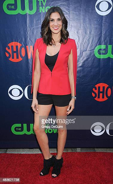 Actress Daniela Ruah arrives at the CBS CW And Showtime 2015 Summer TCA Party at Pacific Design Center on August 10 2015 in West Hollywood California