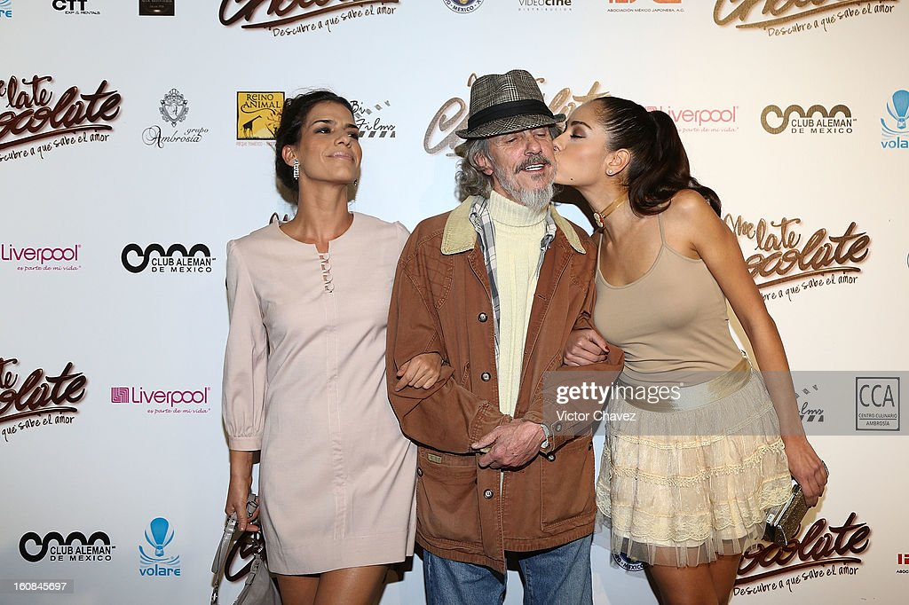 Actress Daniela Smith, <a gi-track='captionPersonalityLinkClicked' href=/galleries/search?phrase=Gabriel+Retes&family=editorial&specificpeople=469706 ng-click='$event.stopPropagation()'>Gabriel Retes</a> and actress Alejandra Toussaint attend the 'Me Late Chocolate' Mexico City premiere at Cinemex WTC on February 6, 2013 in Mexico City, Mexico.