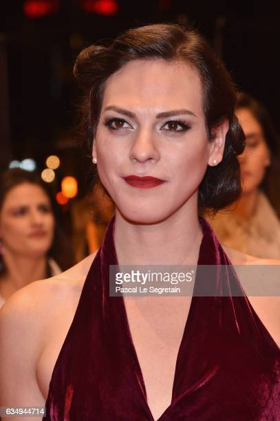 Actress Daniela Vega attends the 'A Fantastic Woman' premiere during the 67th Berlinale International Film Festival Berlin at Berlinale Palace on...