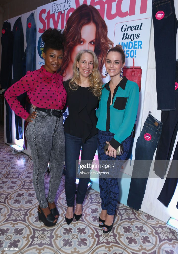 Actress Daniele Watts, managing editor of StyleWatch Susan Kaufman and actress <a gi-track='captionPersonalityLinkClicked' href=/galleries/search?phrase=Taryn+Manning&family=editorial&specificpeople=202146 ng-click='$event.stopPropagation()'>Taryn Manning</a> attend People StyleWatch Hollywood Denim Party at Palihouse on September 20, 2012 in Santa Monica, California.