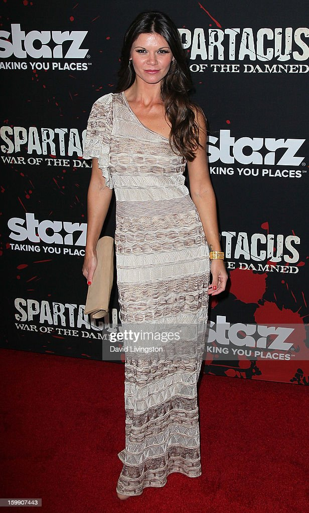 Actress Daniell Vasinova attends the premiere of Starz's 'Spartacus: War of the Damned' at Regal Cinemas L.A. Live on January 22, 2013 in Los Angeles, California.