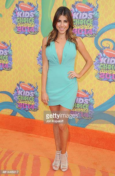 Actress Daniella Monet arrives at Nickelodeon's 27th Annual Kids' Choice Awards at USC Galen Center on March 29 2014 in Los Angeles California