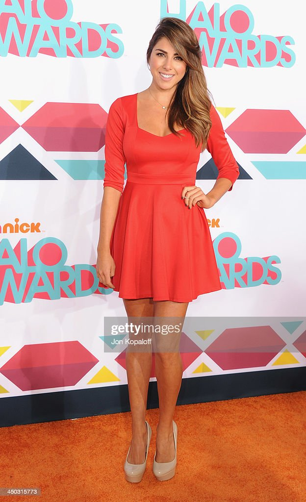 Actress Daniella Monet arrives at the 2013 TeenNick HALO Awards at Hollywood Palladium on November 17, 2013 in Hollywood, California.