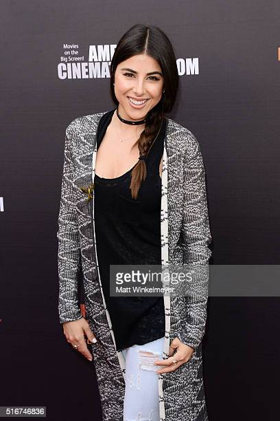 Actress Daniella Monet arrives at the Lionsgate's 'The Hunger Games Mockingjay Part 2' fan event at the Egyptian Theatre on March 20 2016 in...