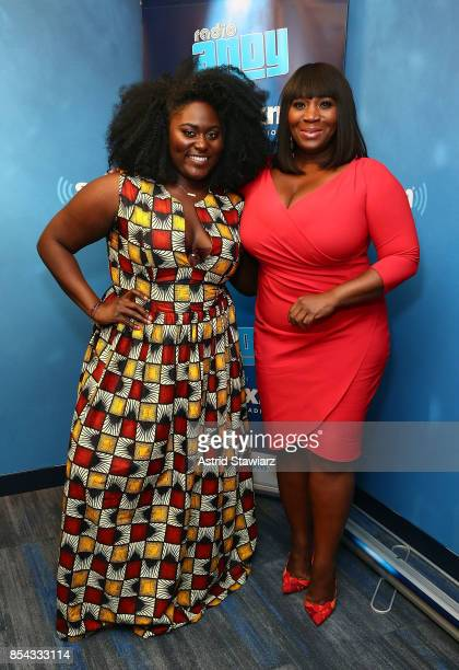 Actress Danielle Brooks and Bevy Smith visit 'Bevelations' on SiriusXM's Radio Andy at the SiriusXM Studios on September 26 2017 in New York City