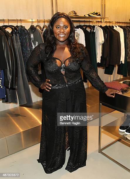 Actress Danielle Brooks attends the Just Cavalli Kick Off New York Fashion Week At The Just Cavalli Soho Boutiqueon September 8 2015 in New York City
