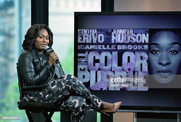 Actress Danielle Brooks discusses her role in Broadway's 'The Color Purple' at AOL Build at AOL on May 10 2016 in New York New York