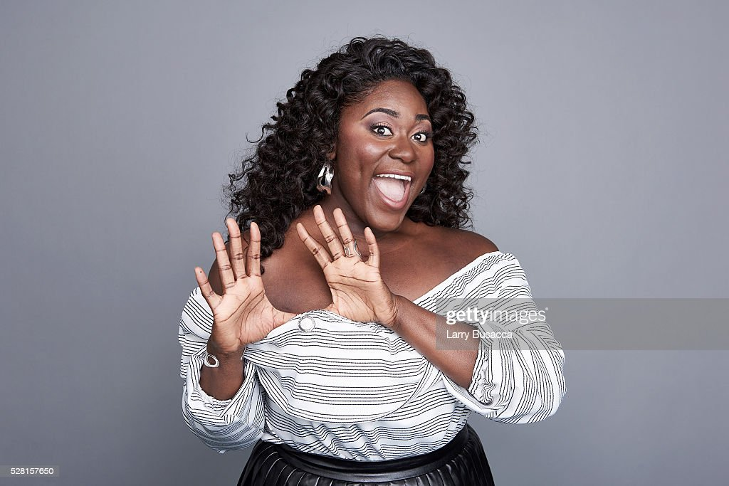 Actress <a gi-track='captionPersonalityLinkClicked' href=/galleries/search?phrase=Danielle+Brooks&family=editorial&specificpeople=8868624 ng-click='$event.stopPropagation()'>Danielle Brooks</a> poses for a portrait at the 2016 Tony Awards Meet The Nominees Press Reception on May 4, 2016 in New York City.