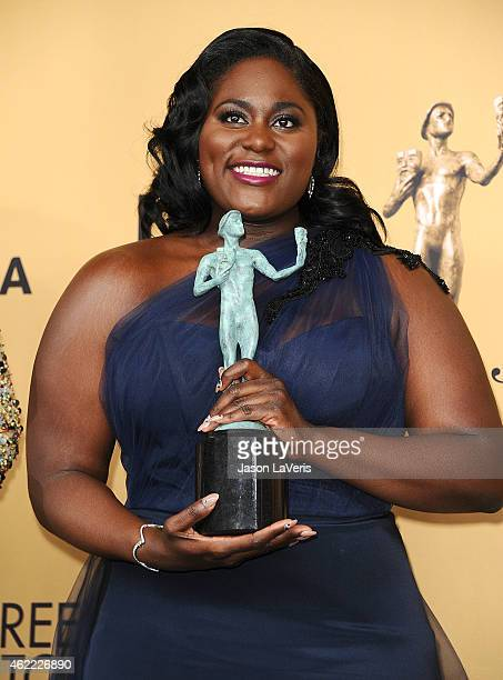 Actress Danielle Brooks poses in the press room at the 21st annual Screen Actors Guild Awards at The Shrine Auditorium on January 25 2015 in Los...