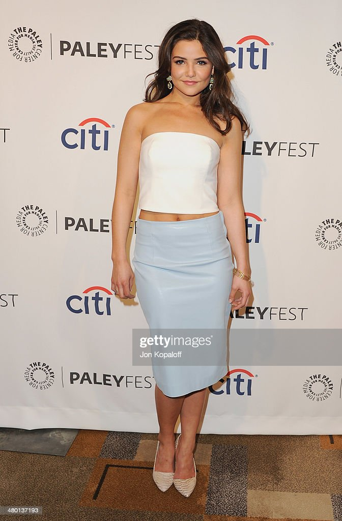 Actress <a gi-track='captionPersonalityLinkClicked' href=/galleries/search?phrase=Danielle+Campbell&family=editorial&specificpeople=5864264 ng-click='$event.stopPropagation()'>Danielle Campbell</a> arrives at the 2014 PaleyFest - 'The Vampire Diaries' & 'The Originals' on March 22, 2014 in Hollywood, California.