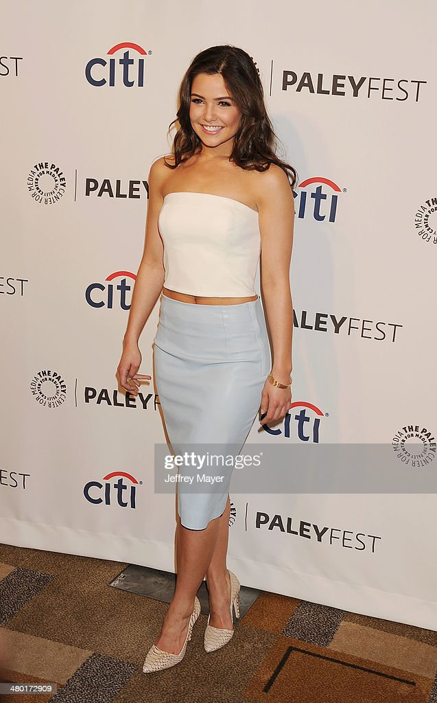 Actress <a gi-track='captionPersonalityLinkClicked' href=/galleries/search?phrase=Danielle+Campbell&family=editorial&specificpeople=5864264 ng-click='$event.stopPropagation()'>Danielle Campbell</a> attends the 2014 PaleyFest - 'The Vampire Diaries' & 'The Originals' held at Dolby Theatre on March 21, 2014 in Hollywood, California.