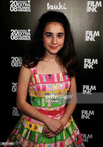 Actress Danielle Catanzariti arrives at the 2008 Movie Extra FilmInk Awards at the State Theatre on March 12 2008 in Sydney Australia The 5th annual...