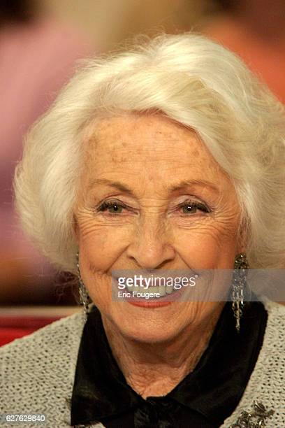 Actress Danielle Darrieux is a guest of France 2 television show 'Vivement Dimanche'