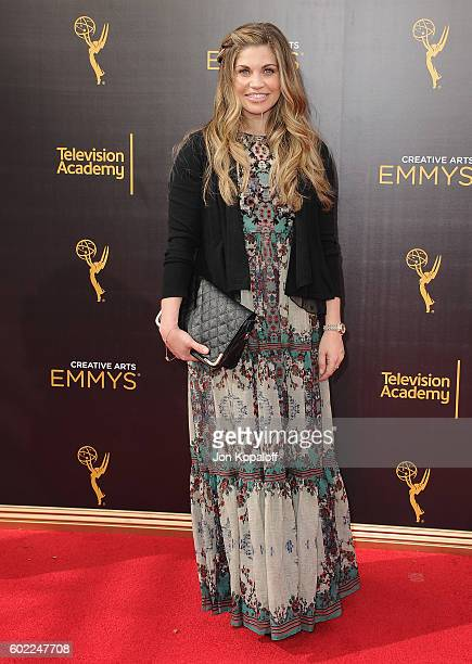 Actress Danielle Fishel arrives at the 2016 Creative Arts Emmy Awards at Microsoft Theater on September 10 2016 in Los Angeles California
