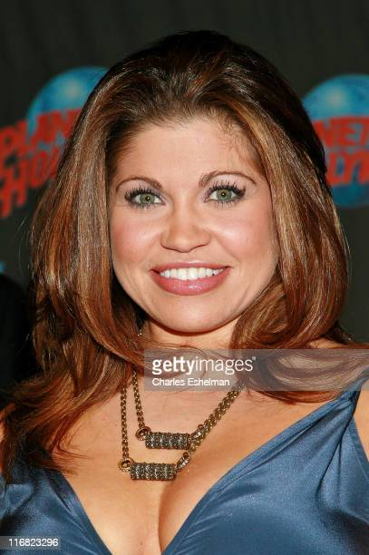 Actress Danielle Fishel attends a handprint ceremony celebrating Danielle Fishel's status as a pop culture icon at Planet Hollywood Times Square on...