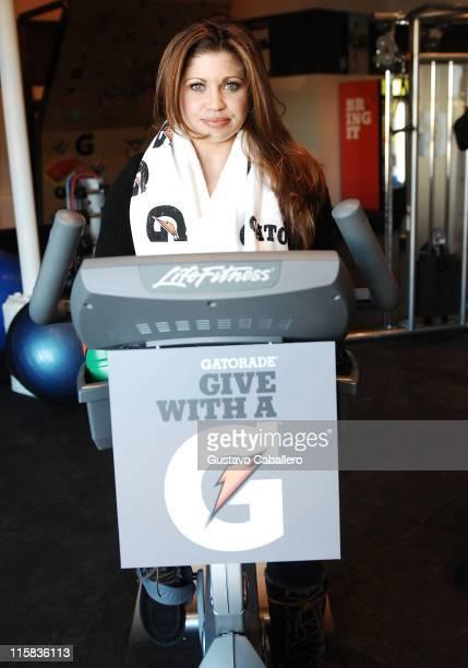 Actress Danielle Fishel visits the Gatorade G Gym at Village at The Yard on January 18 2009 in Park City Utah