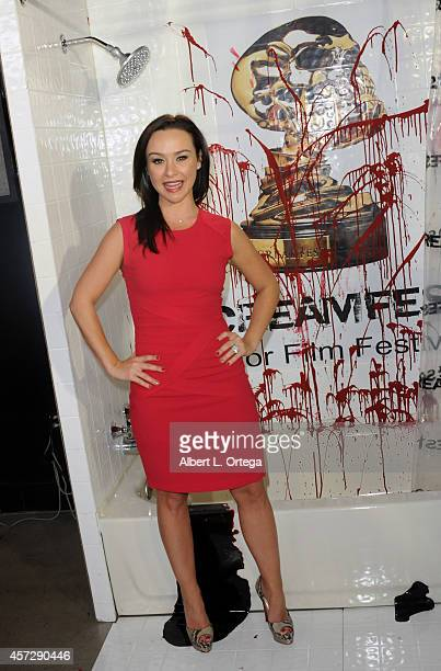 Actress Danielle Harris arrives for ScreamFest 2014 'See No Evil 2' Screening held at TCL Chinese 6 Theatres on October 15 2014 in Hollywood...
