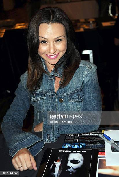 Actress Danielle Harris attends The Hollywood Show held at Westin LAX Hotel on April 20 2013 in Los Angeles California